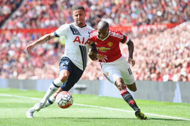 Manchester United's Ashley Young (R) spent four-and-a-half seasons at Aston Villa. (Getty)