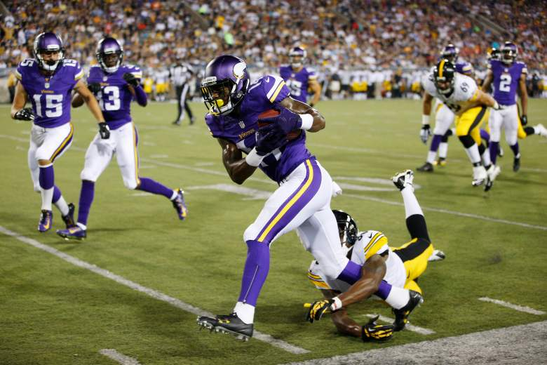 Vikings rookie Stefon Diggs almost returned a punt to the house on Sunday. (Getty)