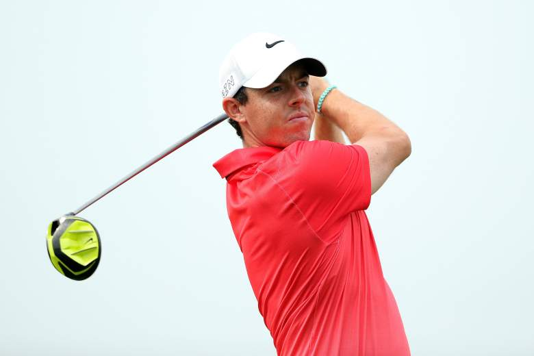 Rory McIlroy is back on the course after missing over a month with an ankle injury. (Getty)