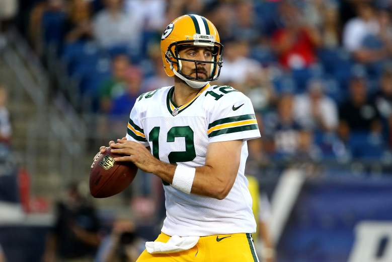 With Jordy Nelson out, should you start Aaron Rodgers in DraftKings Week 1? (Getty)