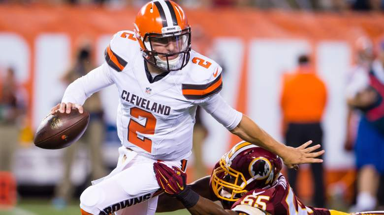 After a promising 2015 debut, Johnny Manziel will look to continue to improve against the Buffalo Bills and Rex Ryan's swarming defense. (Getty)