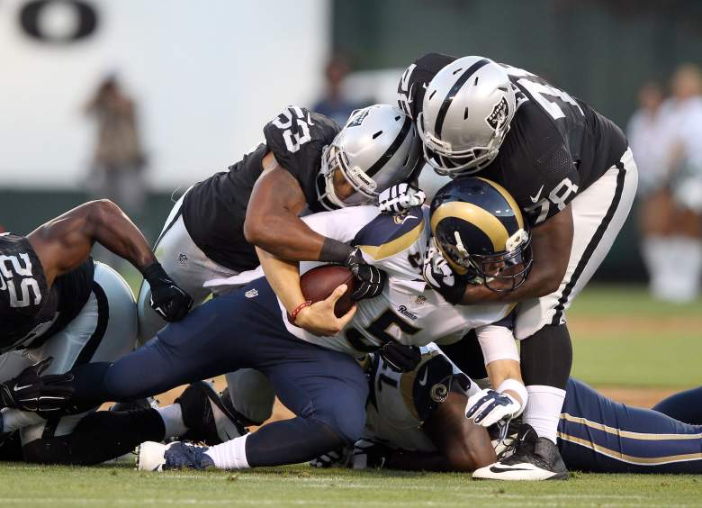 The Oakland Raiders dominated the St. Louis Rams. (Getty)