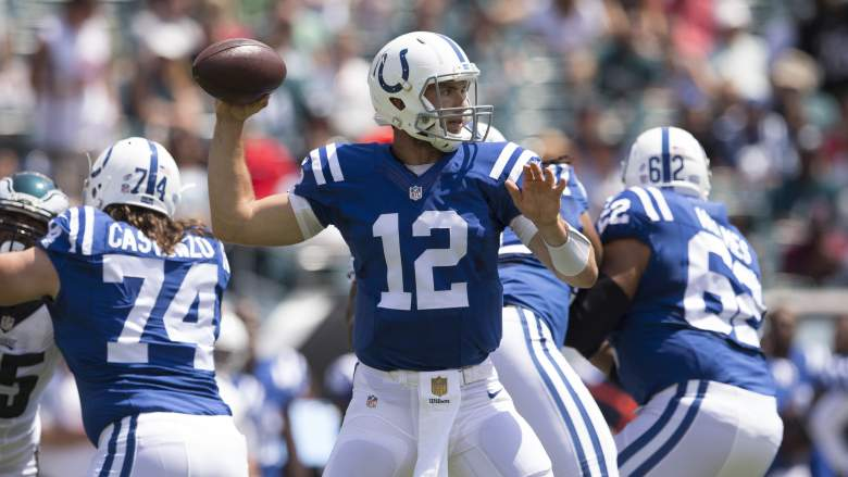 Andrew Luck has close to 13,000 career passing yards in three seasons. Getty)