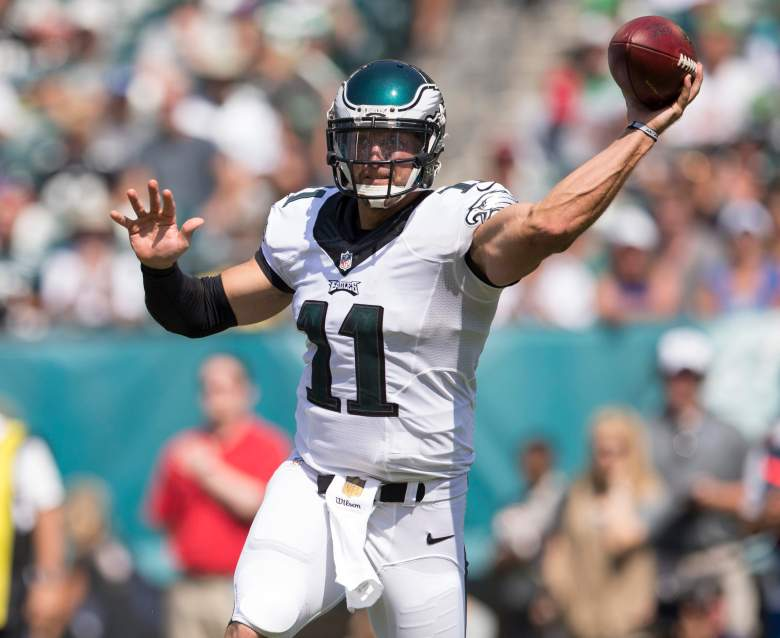 PHILADELPHIA, PA - AUGUST 16: Tim Tebow #11 of the Philadelphia Eagles throws a pass in the third quarter of the preseason game against the Indianapolis Colts on August 16, 2015 at Lincoln Financial Field in Philadelphia, Pennsylvania.  (Photo by Mitchell Leff/Getty Images)