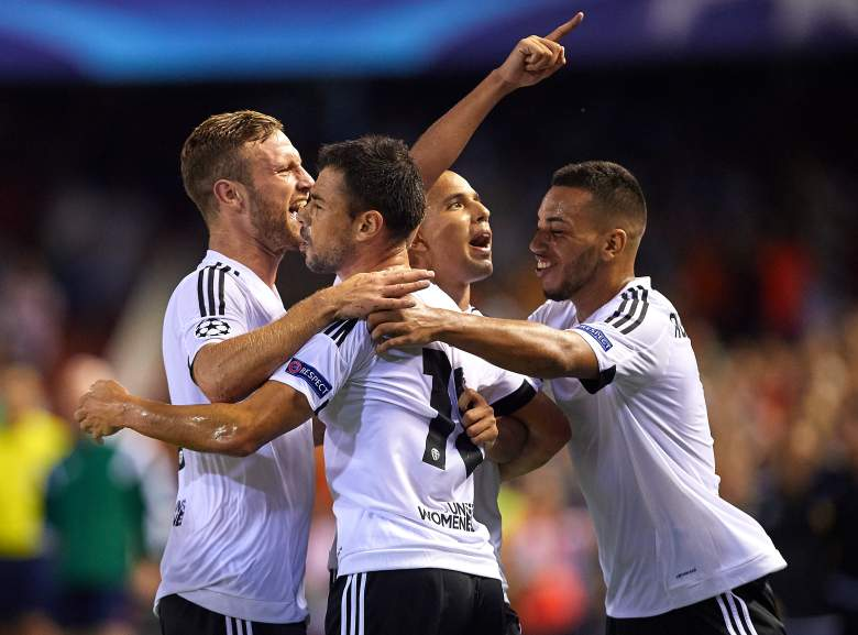 Valencia dominated the second half in defeating Monaco 3-1 in the first leg last week. Getty)