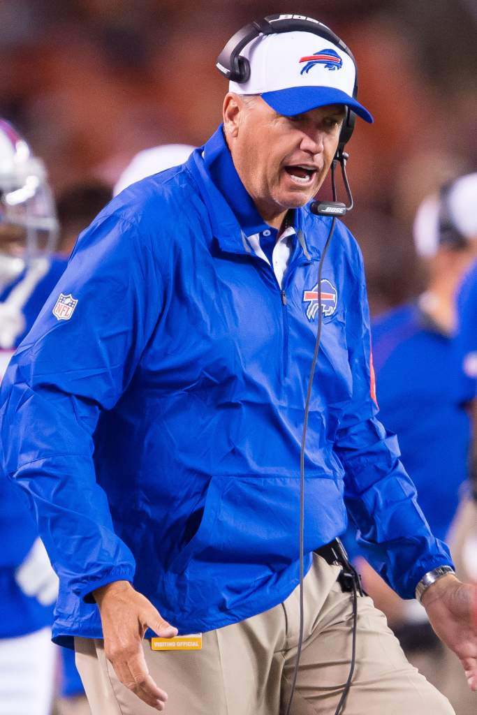Rex Ryan during a preseason game for the Bills in August. (Getty)