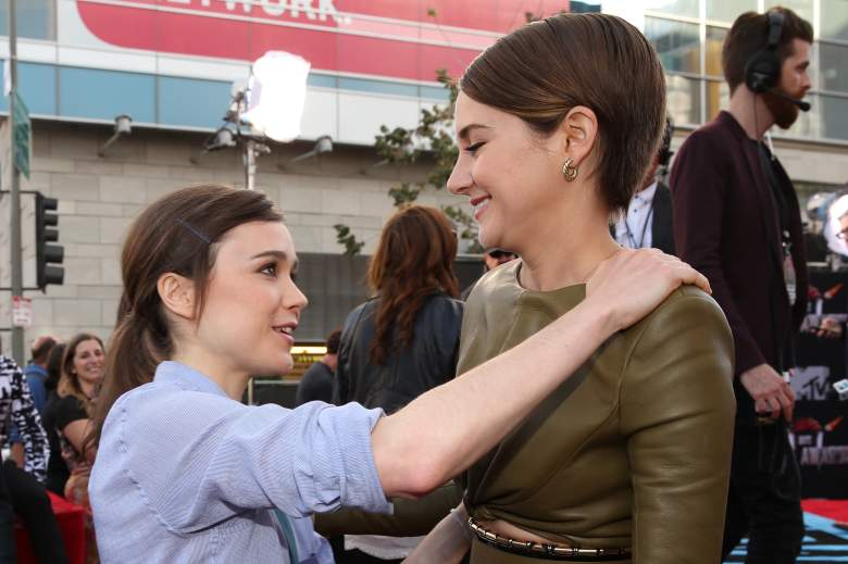 Actresses Ellen Page (L) and Shailene Woodley (Getty)