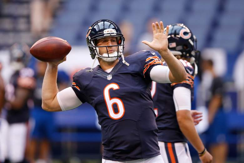 Cutler was traded to the Bears from the Denver Broncos in 2009. Getty)