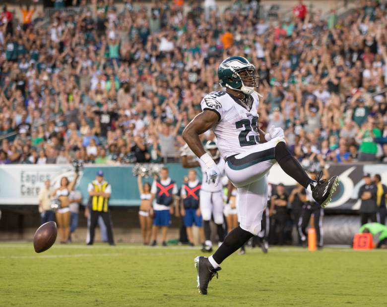PHILADELPHIA, PA - AUGUST 22: DeMarco Murray #29 of the Philadelphia Eagles scores a touchdown in the first quarter against the Baltimore Ravens on August 22, 2015 at Lincoln Financial Field in Philadelphia, Pennsylvania.  (Photo by Mitchell Leff/Getty Images)