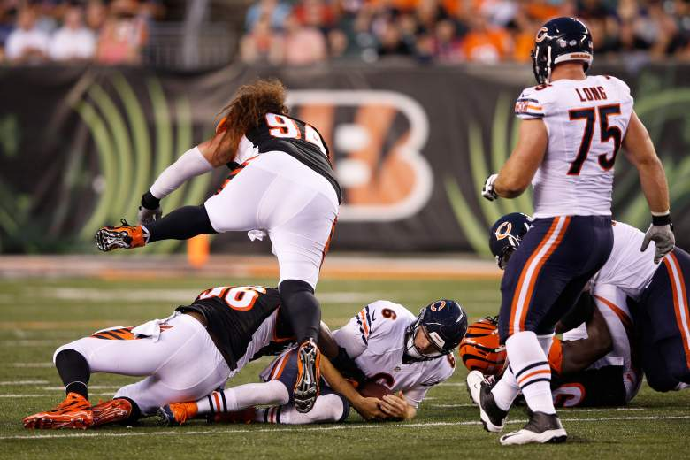 Jay Cutler was sacked twice against the Bengals last week. (Getty)