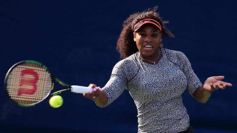 Serena Williams begins play at the US Open, where she looks to become the first player since Steffi Graf to complete the calendar grand slam. (Getty)