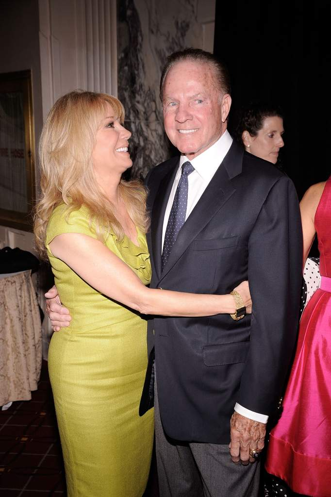 NEW YORK - APRIL 26: Honoree Kathie Lee Gifford (L) and husband Frank Gifford attend the City of Hope-East End Chapter 2010 Spirit of Life Award luncheon at Waldorf Astoria - Grand Ballroom on April 26, 2010 in New York City. (Photo by Gary Gershoff/Getty Images for City of Hope)