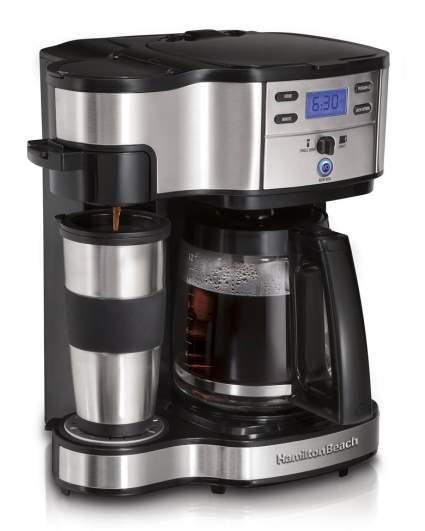 Hamilton Beach Single Serve Coffee Brewer and Full Pot Coffee Maker, 2-Way (49980A), single serve coffee machine