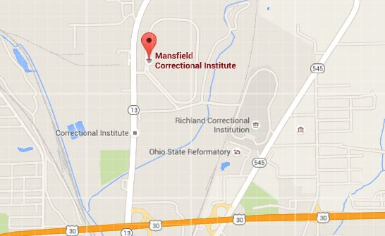 Mansfield Correctional Institution map