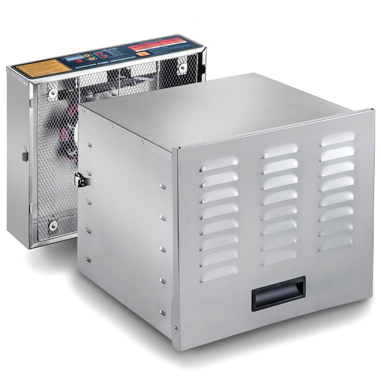 STX INTERNATIONAL Dehydra STX-DEH-1200W-XLS 10-Tray Stainless Steel Digital Food Dehydrator, 1200-watt, food dehydrator