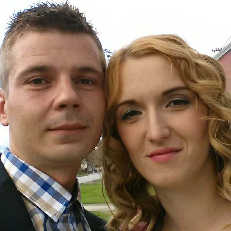 Salopek and his wife, Natasa. (Facebook)
