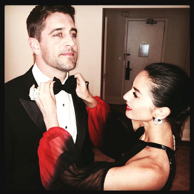 Aaron Rodgers and Olivia Munn began dating in May, 2014. (Instagram: @LanvinOfficial)