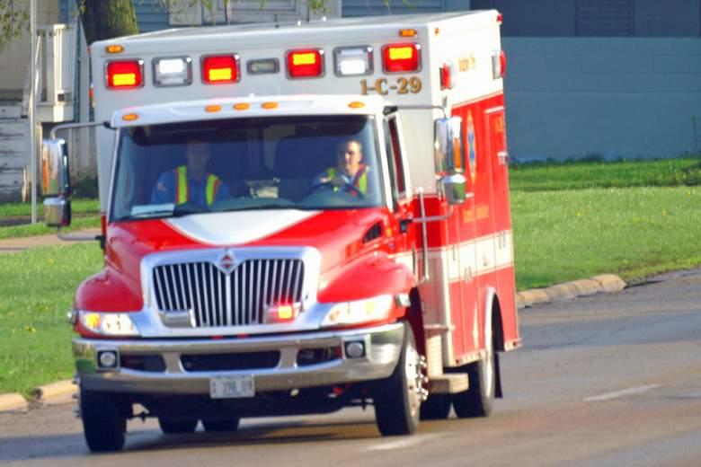 ambulance heading to an emergency