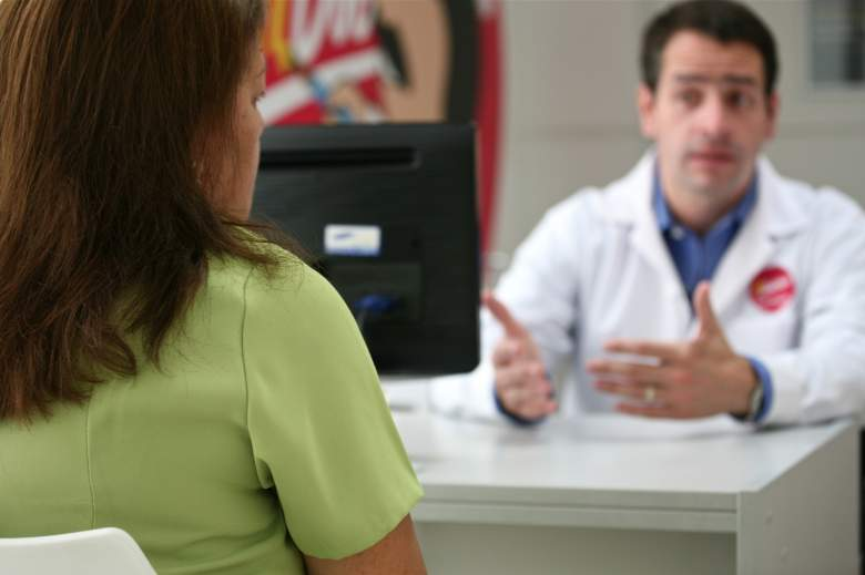patient speaking to a doctor