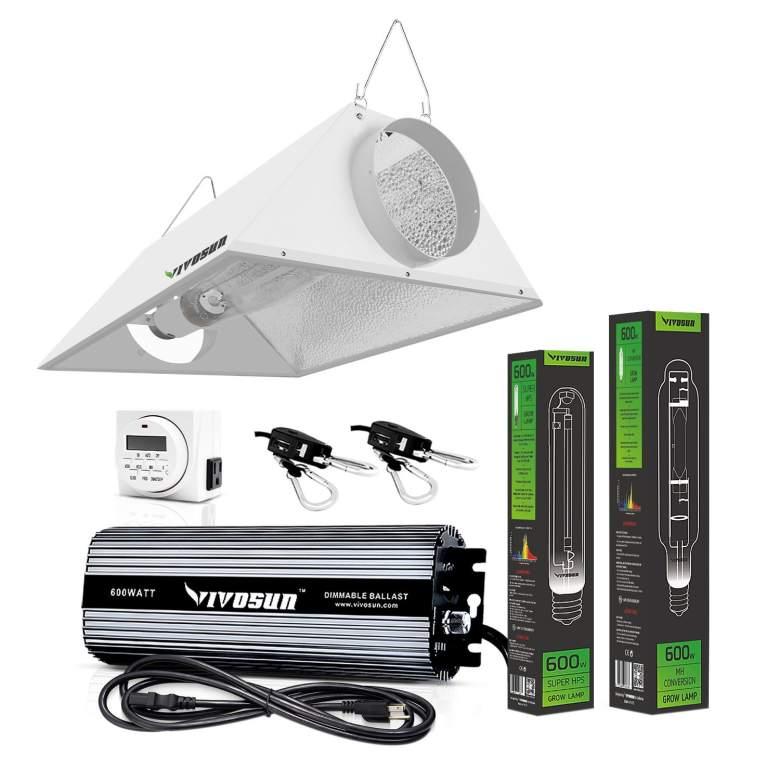 VIVOSUN Hydroponic HID Grow Light Air Cooled Reflector Kit