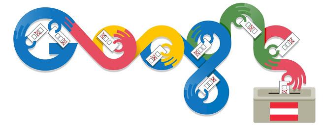 Austria elections, google doodle austria