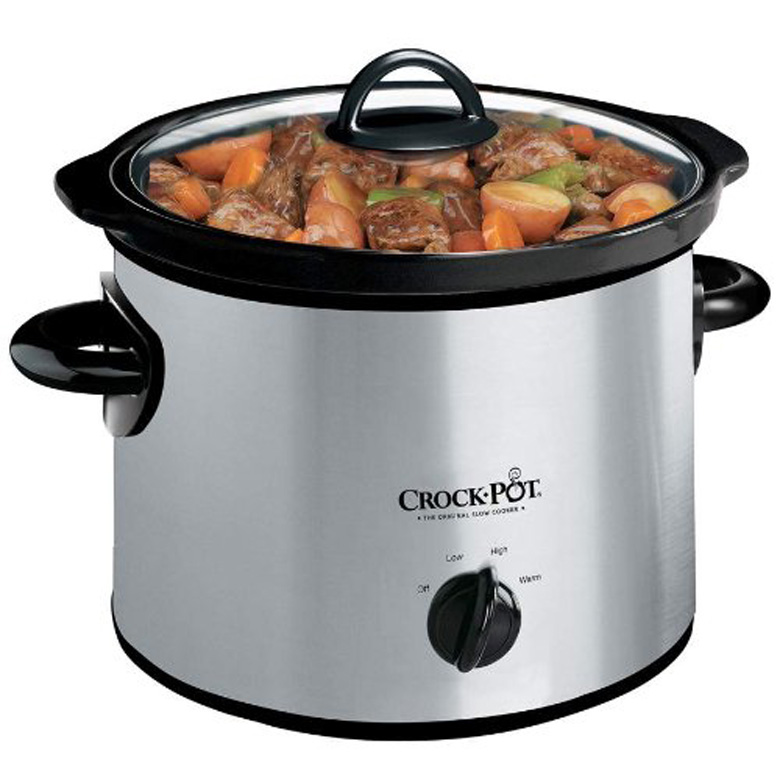 Crock-Pot SCR300SS 3-Quart Round Manual Slow Cooker, Stainless Steel, crock pot, Crock-Pot