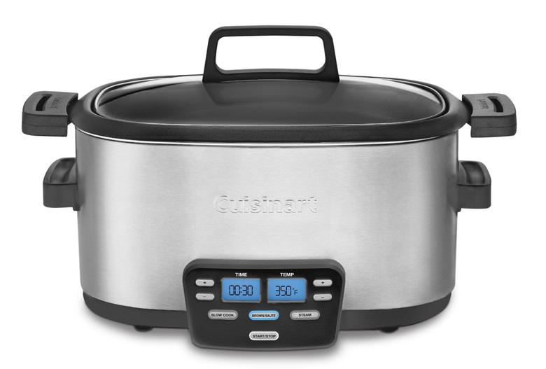 Cuisinart MSC-600 3-In-1 Cook Central 6-Quart Multi-Cooker: Slow Cooker, Brown/Saute, Steamer, cuisinart slow cooker, slow cooker