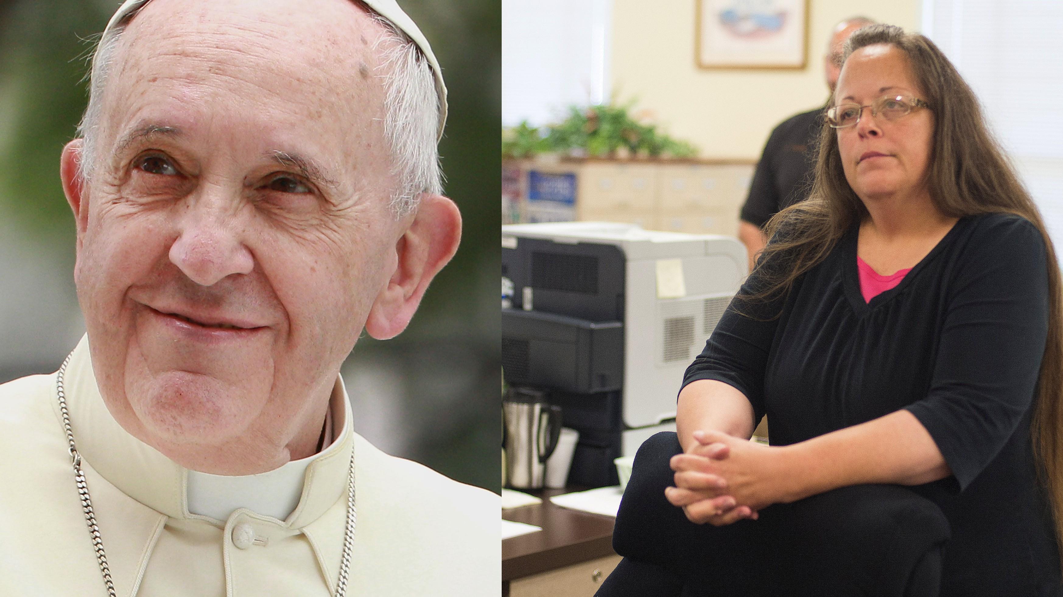 kim davis pope francis, kim davis pope francis meeting, pope francis met with kim davis, did pope francis meet with kim davis, pope francis kentucky clerk, pope francis gay marriage clerk