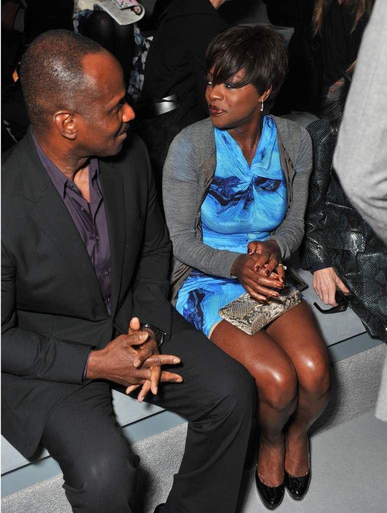 NEW YORK, NY - FEBRUARY 14:  Julius Tennon and actress Viola Davis attend the Vera Wang Fall 2012 fashion show during Mercedes-Benz Fashion at The Stage at Lincoln Center on February 14, 2012 in New York City.  (Photo by Stephen Lovekin/Getty Images for Mercedes-Benz Fashion Week)