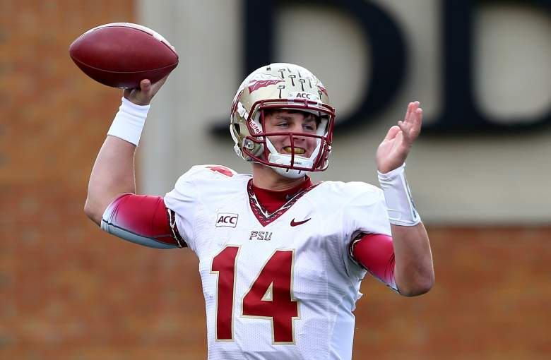 Jacob Quarterback during his days at Florida State. (Getty)