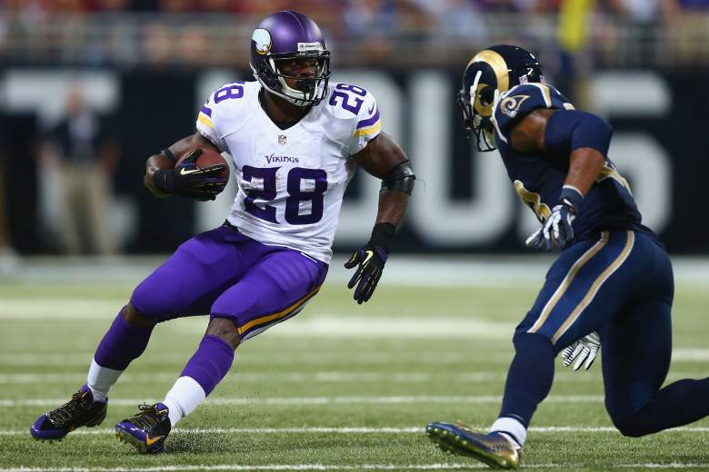 Adrian Peterson played in just one game in 2014. (Getty)