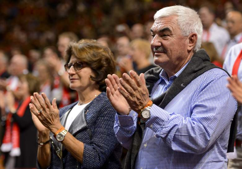 Lynette and Robert Federer are often in attendance at Roger's biggest matches, but they made sure not to be over-bearing when he was growing up. (Getty)