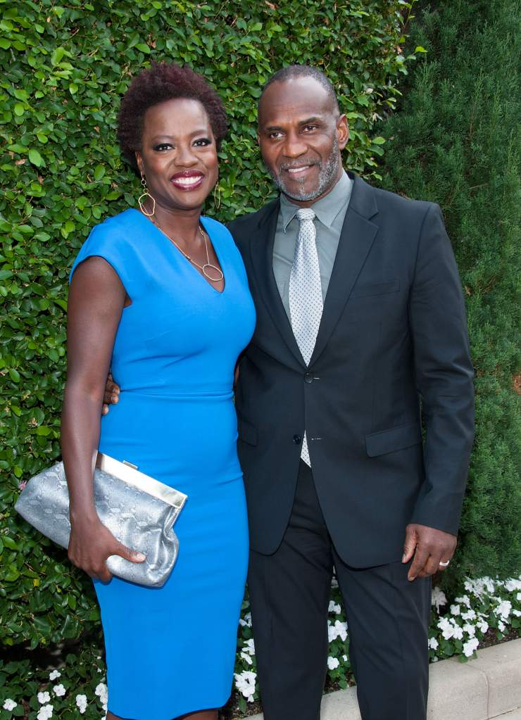 BEVERLY HILLS, CA - SEPTEMBER 28:  Actress Viola Davis (L) and husband Julius Tennon arrive at The Rape Foundation's Annual Brunchat Greenacres, The Private Estate of Ron Burkle on September 28, 2014 in Beverly Hills, California.  (Photo by Valerie Macon/Getty Images)