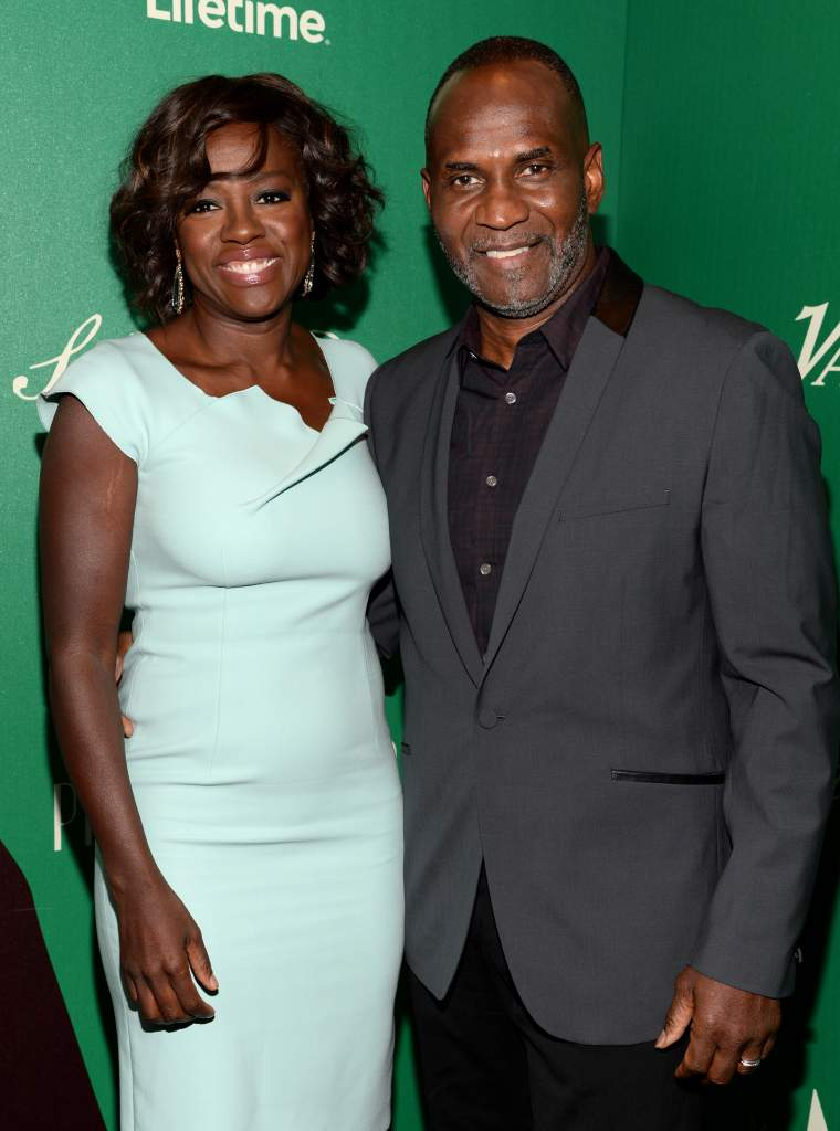 LOS ANGELES, CA - OCTOBER 10:  Actress Viola Davis (L) and actor Julius Tennon attend the 2014 Variety Power of Women presented by Lifetime at Beverly Wilshire Four Seasons on October 10, 2014 in Los Angeles, California.  (Photo by Michael Kovac/Getty Images for Variety)