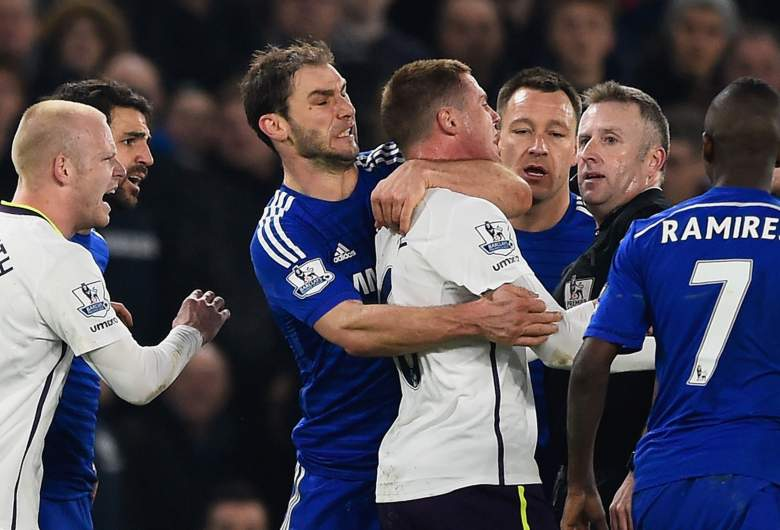Tempers flared the last time Everton and Chelsea faced one another in Februrary. Getty