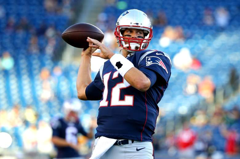 Patriots quarterback Tom Brady is available for Week 1 vs. the Steelers on Thursday. (Getty)