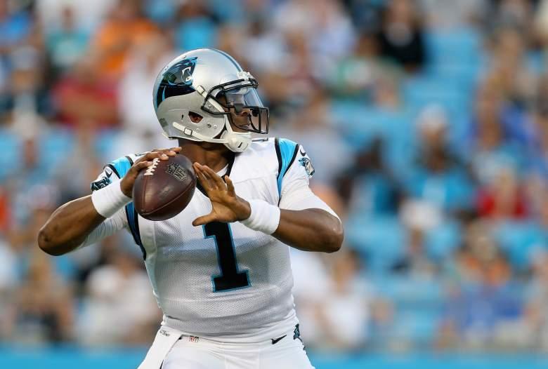 Cam Newton begins his fifth NFL season on Sunday (Getty).