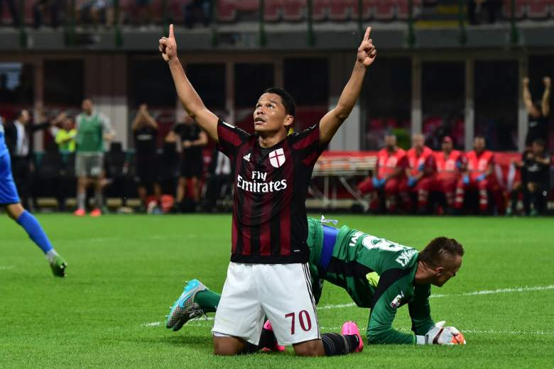 Carlos Bacca scored his first goal for A.C. Milan before the international break. Getty)