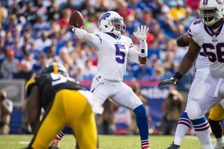 """Tyrod Taylor won a three-way """"competition"""" for the Buffalo starting quarterback job. (Getty)"""