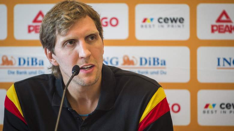 Germany's Dirk Nowitzki is one of many NBA stars competing at EuroBasket 2015. (Getty)