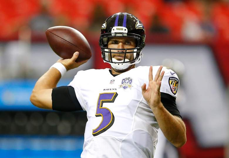 Joe Flacco is looking for some receivers. (Getty)
