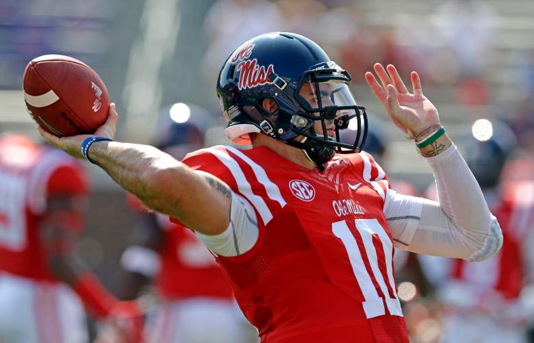 Chad Kelly is the new quarterback at Ole Miss. -Getty
