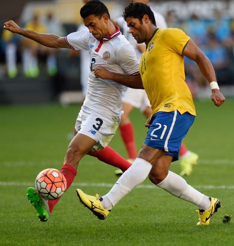 Hulk R) scored the lone goal against Costa Rica Saturday. Getty)