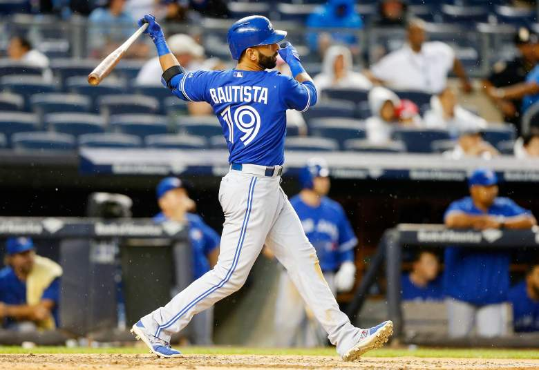 Jose Bautista is averaging 19 fantasy points over his past 3 games. (Getty)