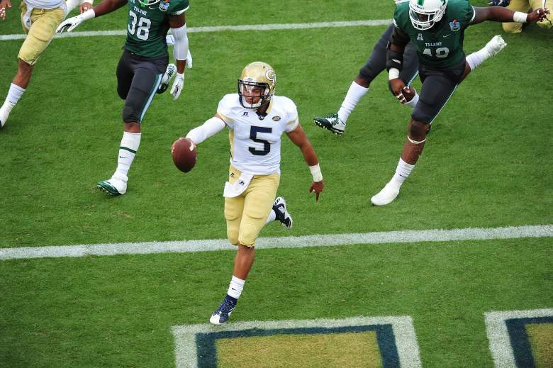 Justin Thomas leads the Yellow Jackets at quarterback. (Getty)