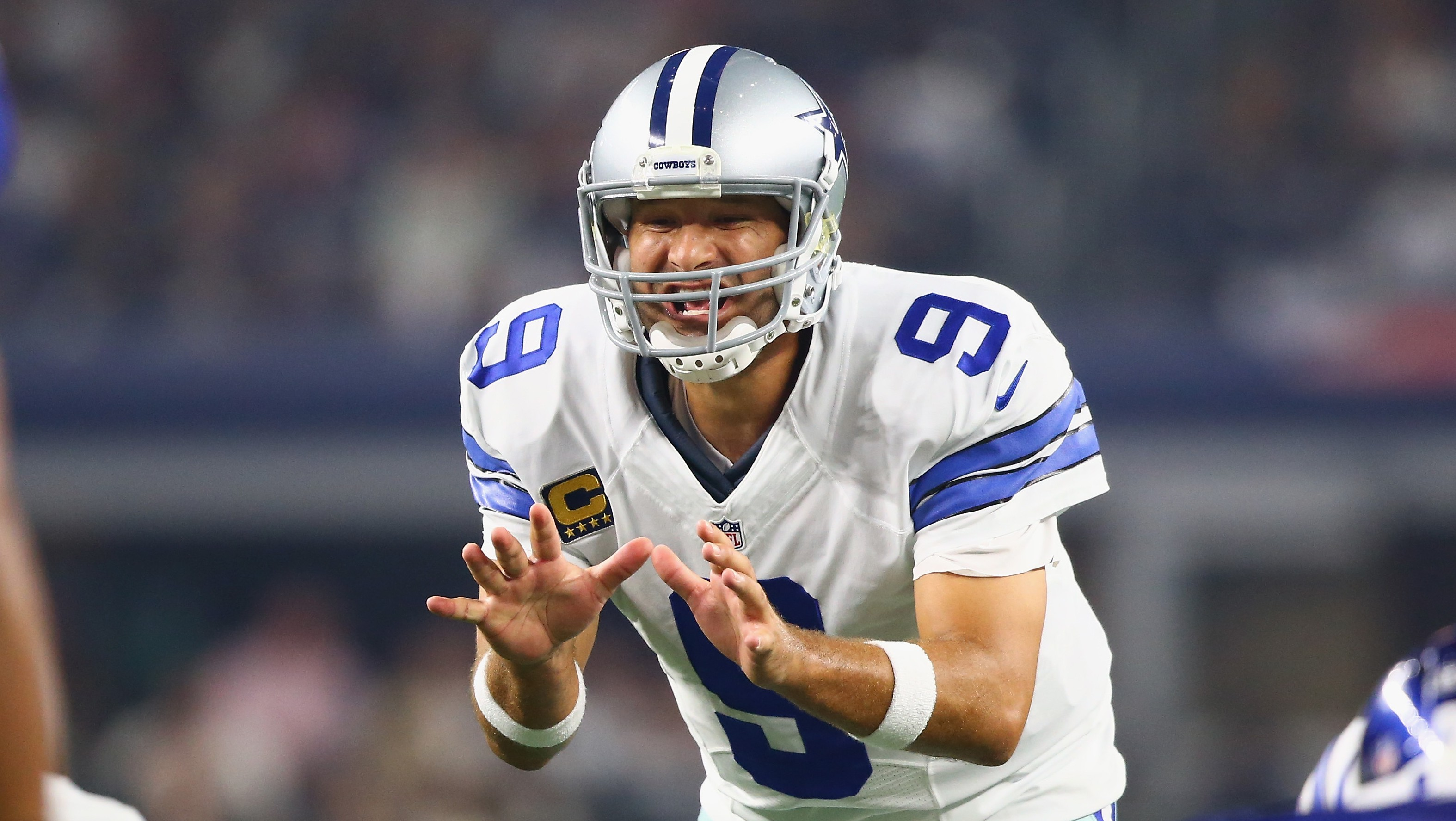 Tony Romo led the Dallas Cowboys to a last-second win Sunday night in Week 1. (Getty)