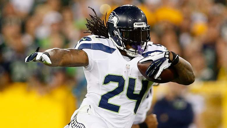 Marshawn Lynch and the Seattle Seahawks host the Chicago Bears in Week 3. (Getty)