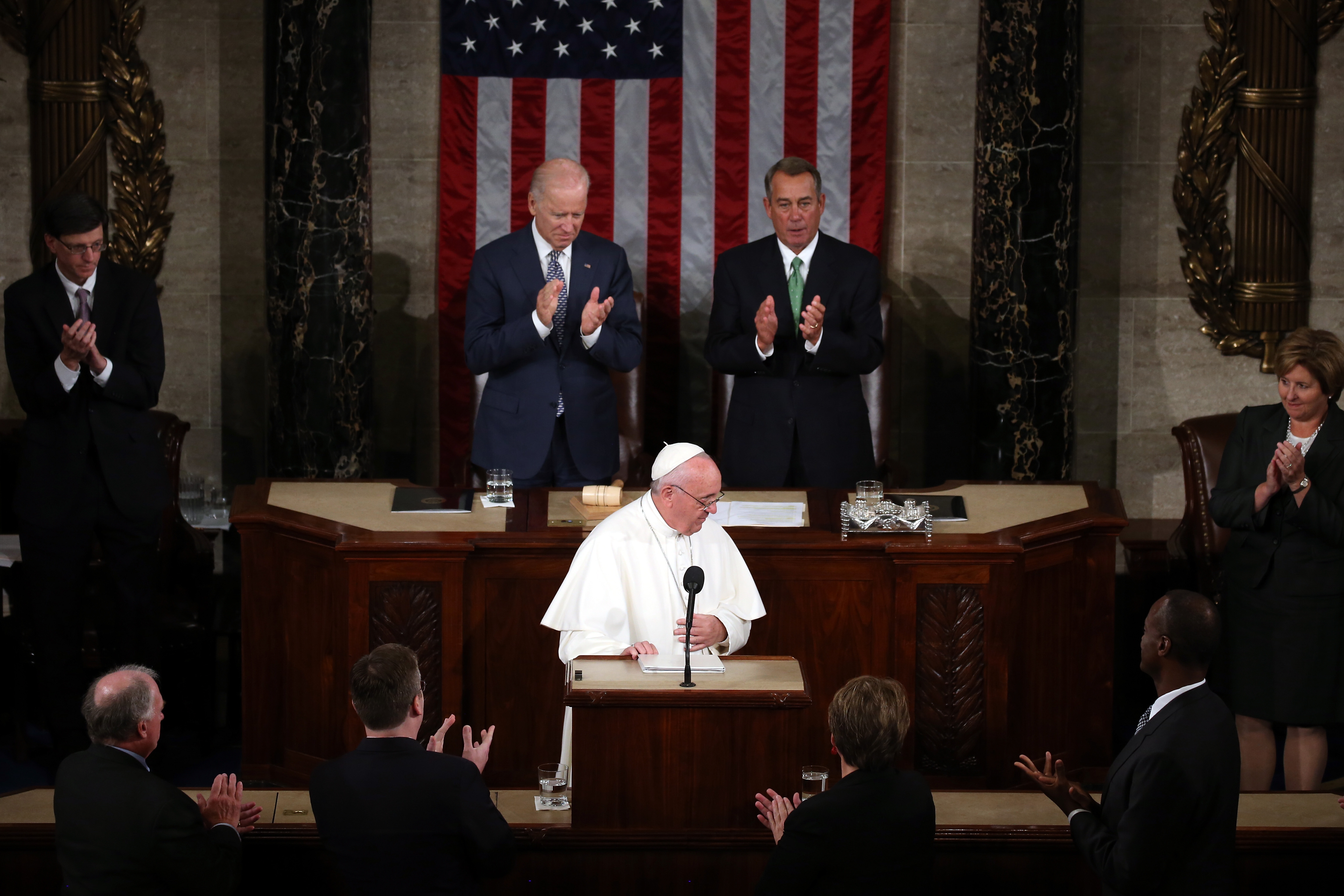 Pope Francis addresses Congress in Washington, D.C. (Getty)
