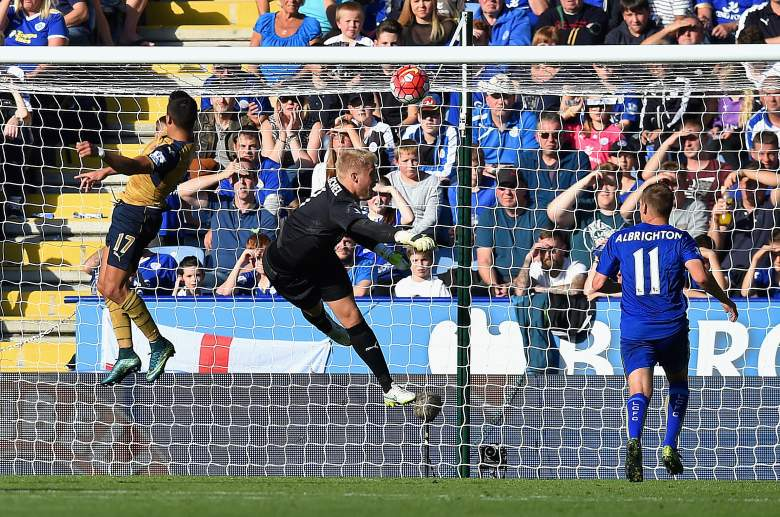 Arsenal forward Alexis Sanchez netted a hat trick vs. Leicester over the weekend. Getty)