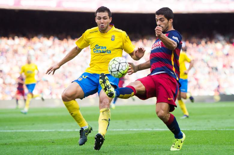 Luis Suarez R) will get more of the goalscoring opportunities with the injury to Lionel Messi. Getty)